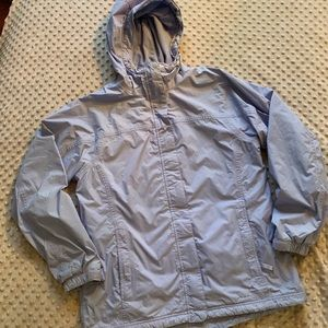 LLBean women's fleece lined trail jacket size M